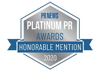PR News Platinum PR Awards - Honorable Mention 2020